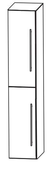 Puris Kao Line Bad-Hochschrank 40 cm breit HNA0340 L/R