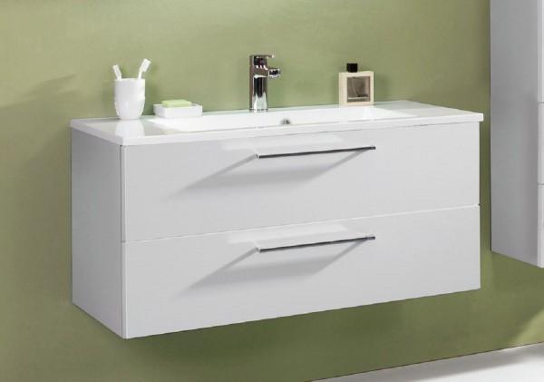 puris fresh waschtisch mit unterschrank 100 6 cm breit mit mineralguss oder glasbecken badm bel 1. Black Bedroom Furniture Sets. Home Design Ideas