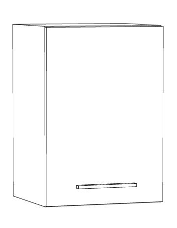 Marlin Bad 3030 - Christall Oberschrank 40 cm breit OT4