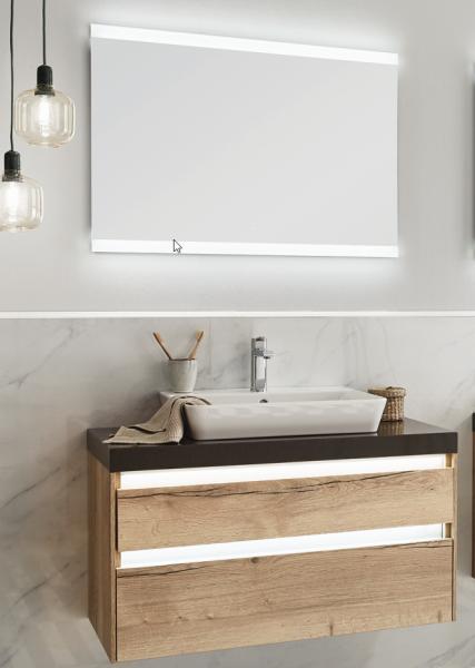 Puris Xpression - Badmöbel Set 62 cm / mit Flächenspiegel