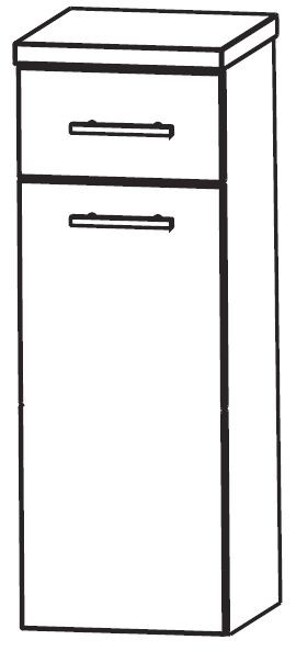 Puris Crescendo Bad-Highboard mit Wäschekippe 40 cm breit HBA554A7W