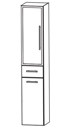 Puris Fine Line Bad-Hochschrank 30 cm breit HNA0531W L/R