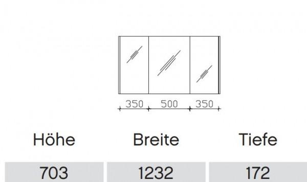 Pelipal Solitaire 6040 Bad-Spiegelschrank ohne LED-Profil / 123 cm SENE00112