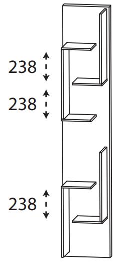 Puris Protection1 - Hochschrank Regal RG103001