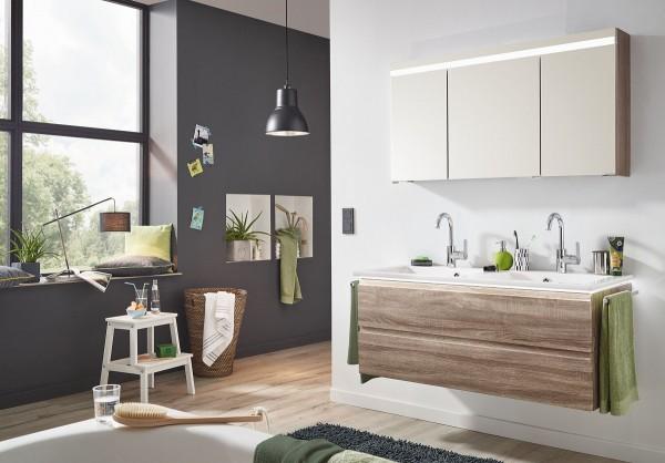 Puris Ace Badmöbel Set 122 cm breit kombinierbar – Doppelwaschtisch