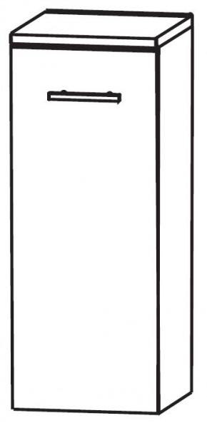 Puris Linea Bad-Highboard mit Wäschekippe 30 cm breit HBA413W01