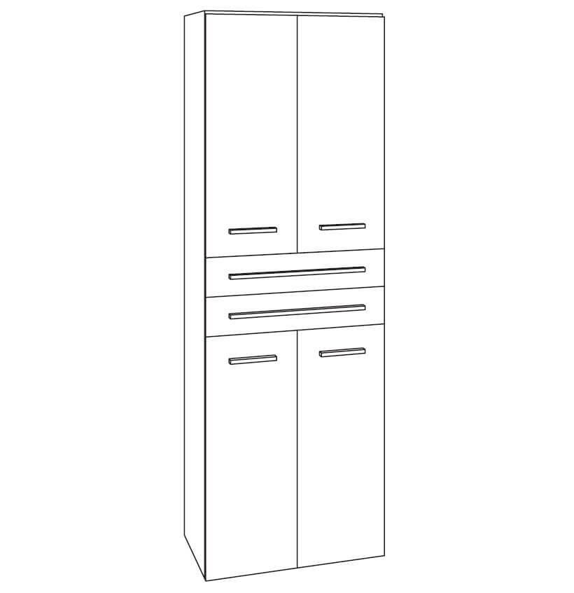 marlin bad 3250 bad hochschrank 60 cm breit htsst6. Black Bedroom Furniture Sets. Home Design Ideas