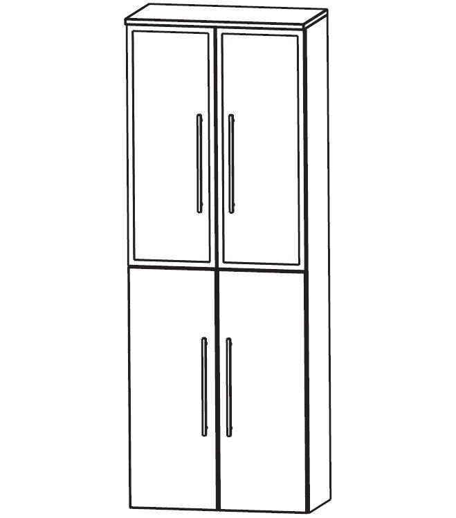 puris classic line bad hochschrank 60 cm breit hna036b7. Black Bedroom Furniture Sets. Home Design Ideas