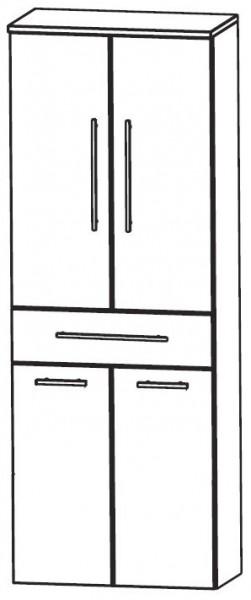 Puris Crescendo Bad-Hochschrank mit Wäschekippe 60 cm breit HNA056A7W