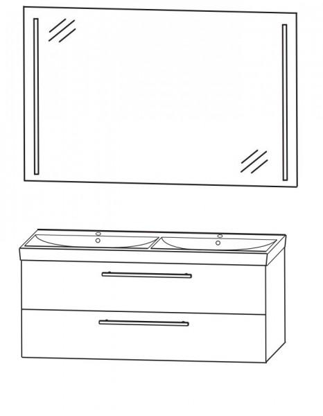 Puris Protection1 - Badmöbelset 4 - 120 cm / mit Flächenspiegel