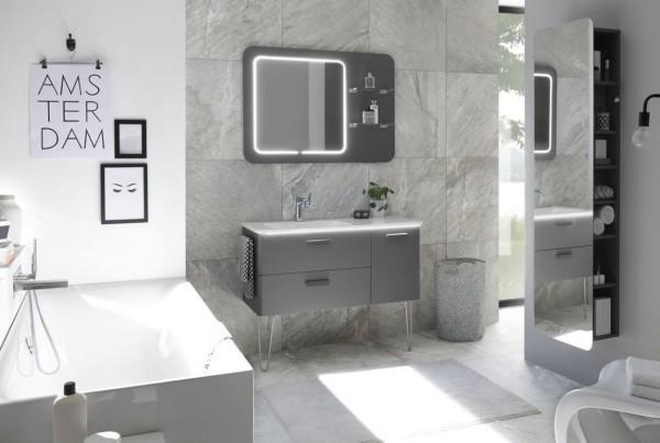 Pelipal Solitaire 7035 - Badmöbel Set / 105 cm breit - mit Flächenspiegel