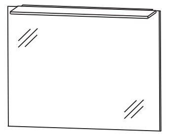 Puris d.light Badspiegel 70 cm breit FSA417B30