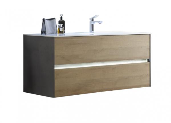 Pelipal Solitaire 6010 Waschtisch mit Unterschrank 113 cm breit 2 Auszüge – Becken Rechts