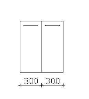 Pelipal Neutrales Bad-Highboard - 2 Drehtüren - 60 cm breit / Tiefe wählbar