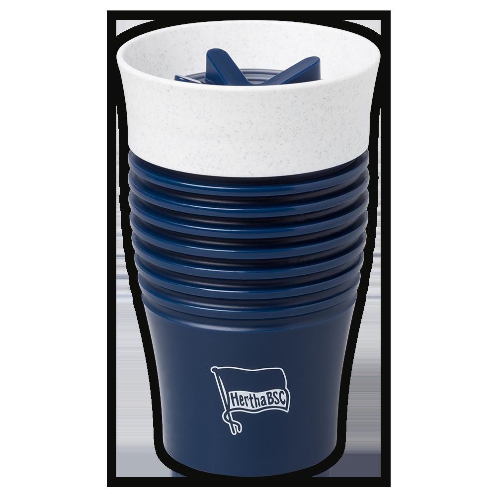 Kaffeebecher To-Go Logo navy