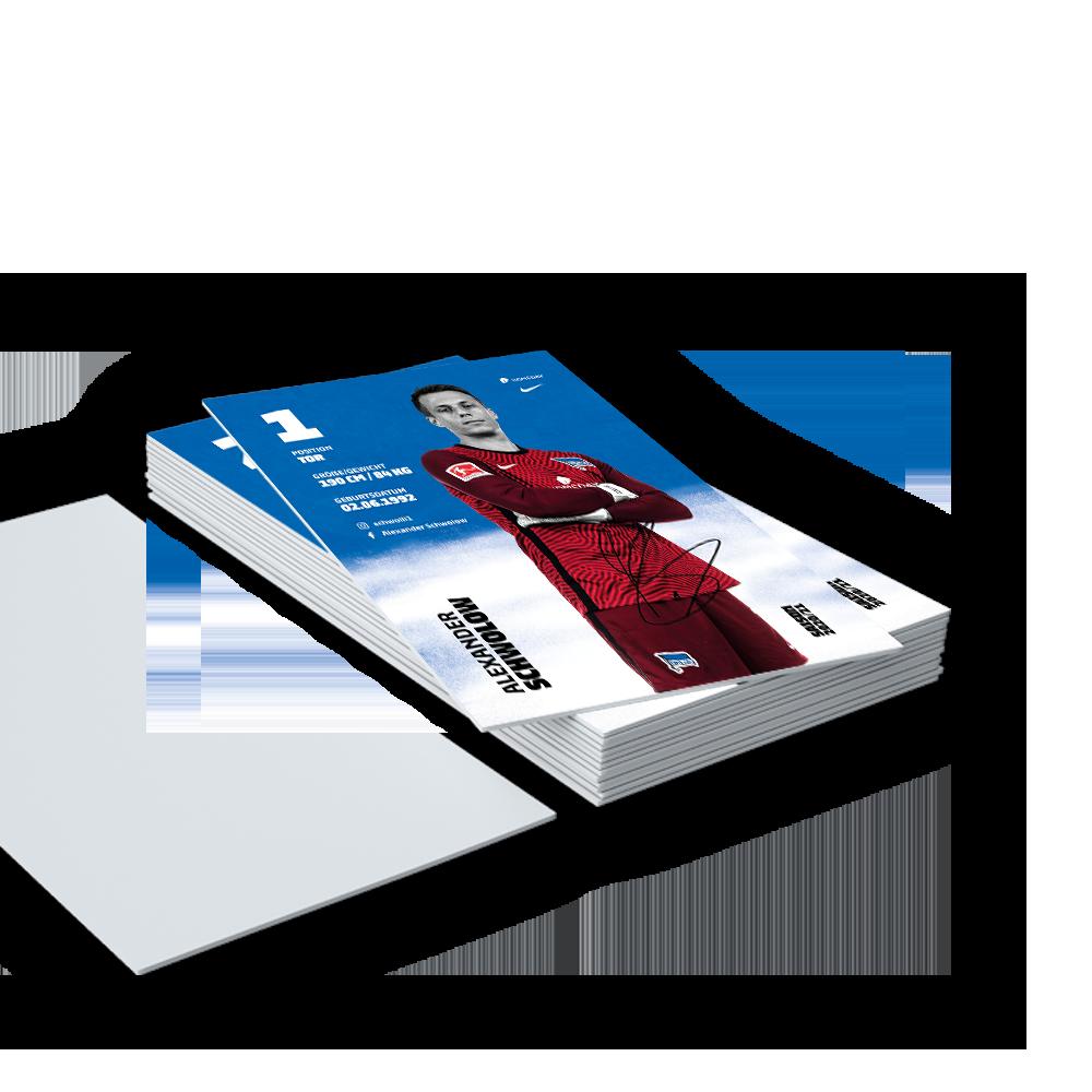 Autogrammkartensatz 20202021 gedruckt