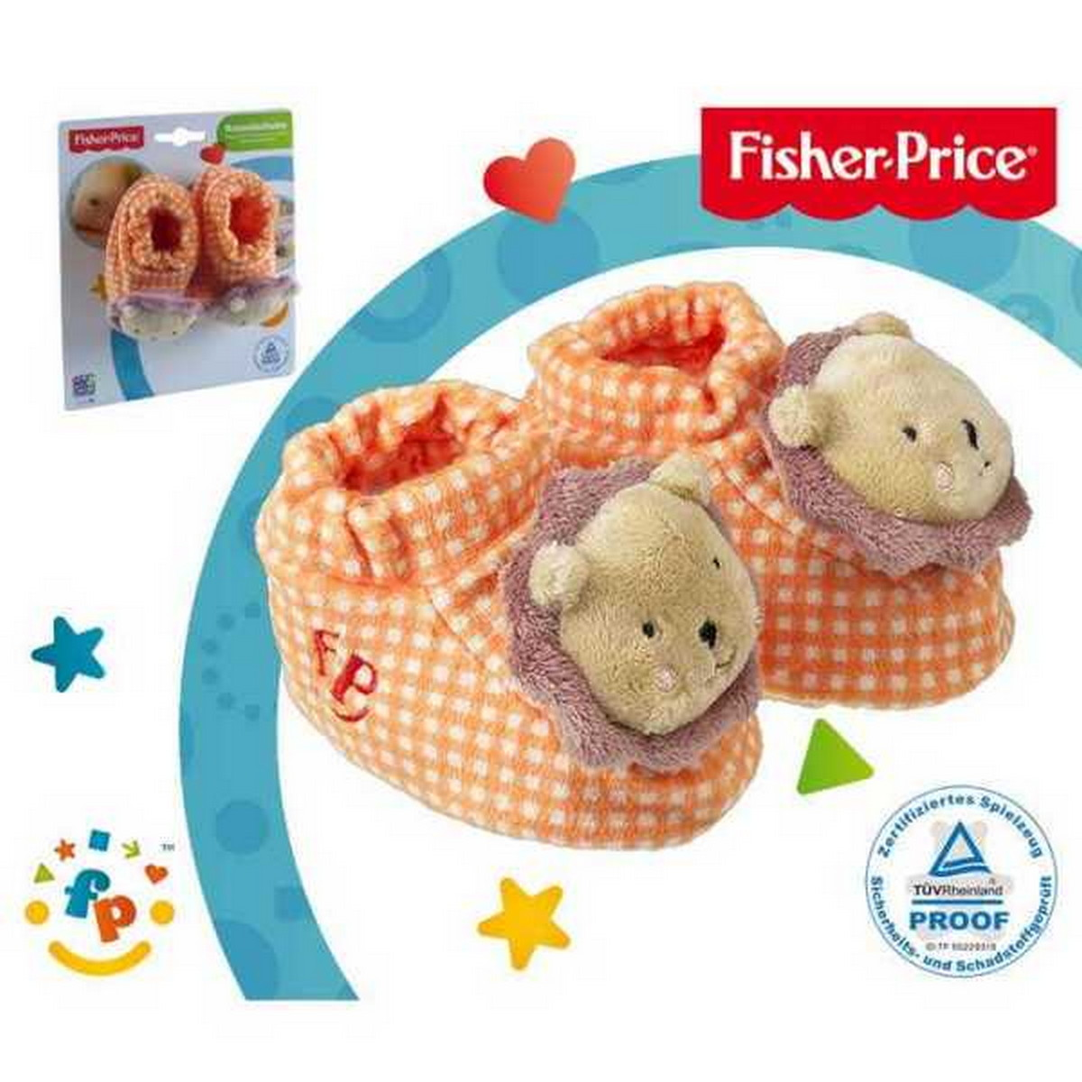 Fisher-Price Rasselschuhe Löwe braun/orange