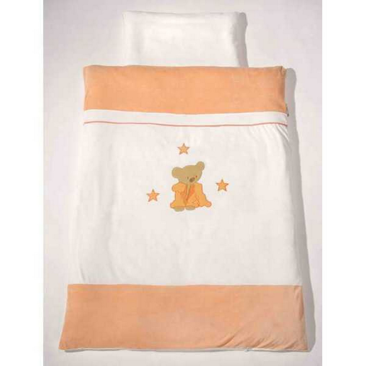 Easy Baby Kinderbettwäsche Niki Bear orange 09