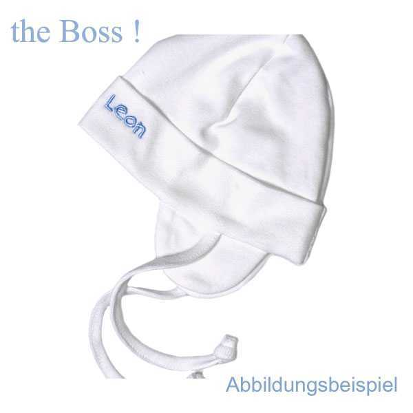 Be Be´s Collection Baby Mützchen the Boss Junge