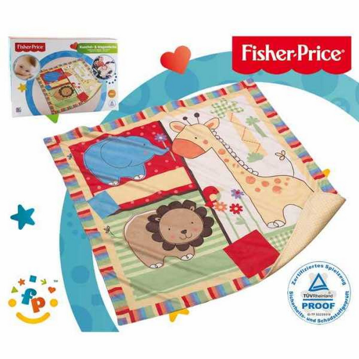 Fisher-Price Kuschel& Wagendecke bunt
