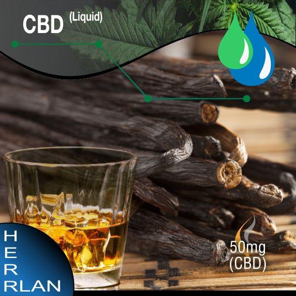 Herrlan CBD Vanille Burbon Liquid 50mg