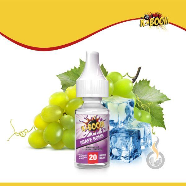 K-BOOM Grape Bomb Nikotinsalz Liquid - 10 ml