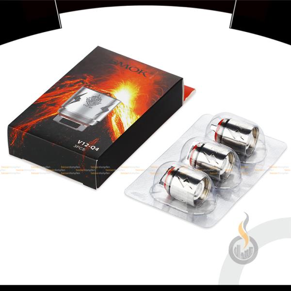 3x SMOK TFV12 V12-Q4 Quadruple Coils