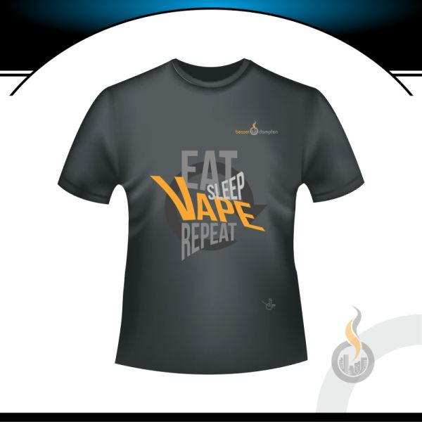 besser Herren T-SHIRT - EAT SLEEP VAPE REPEAT
