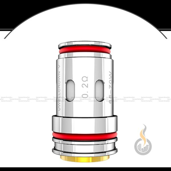4x UWELL Crown 5 UN2-3 Meshed-H Coil - 0.2 Ohm
