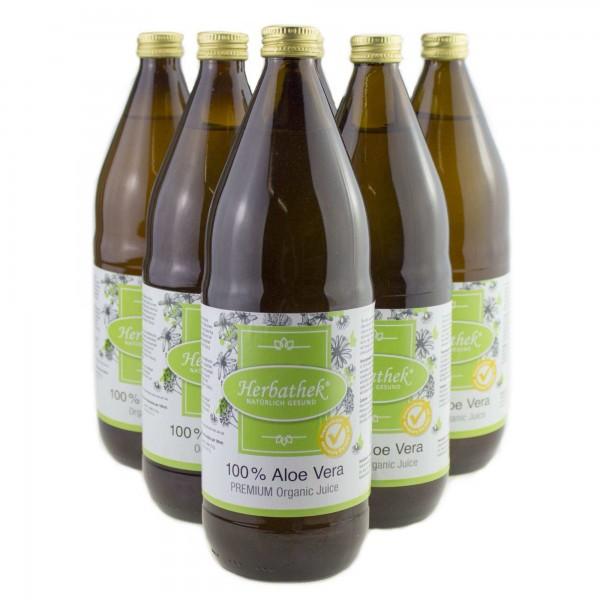 Aloe vera Bio-Saft - Premium, Vorteilspack 6 x 1l