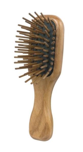 Olivenholz Taschen-Haarbürste