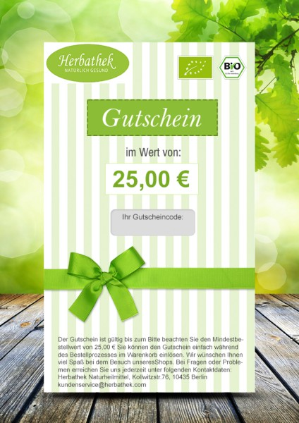 Geschenkgutschein 25 €