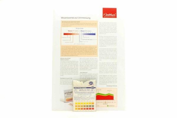 pH-Streifen + Protokoll
