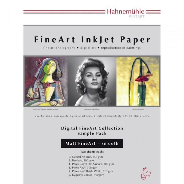 Hahnemühle Digital FineArt A 4 Testpack matte, glatte Papiere