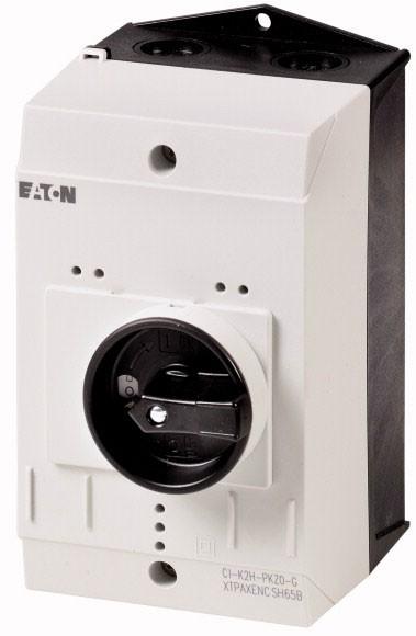 Eaton 219654 Isolierstoffgehäuse CI-K2, H x B x T = 160 x 100 x 130 mm, für Pkz0, Drehgriff, schwarz