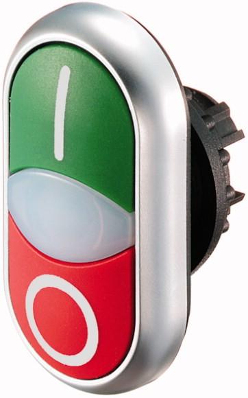 Eaton Doppeldrucktaste beleuch.,beschriftet M22-DDL-GR-X1/X0