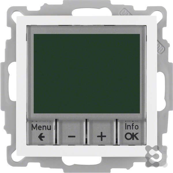 Berker Temperaturregler pws/gl 20448989 mit Schließer B.3;B.7;HLK-REGELUNG;S.1 Raumtemperaturregler