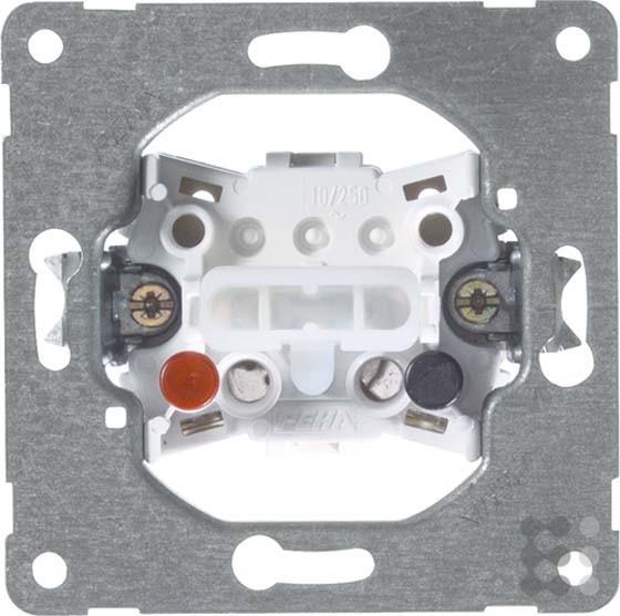 PEHA 00193511 Grundelement Taster mit Steckklemmen für alle Unterputz-Programme 10 A 250 V, 1-polig,