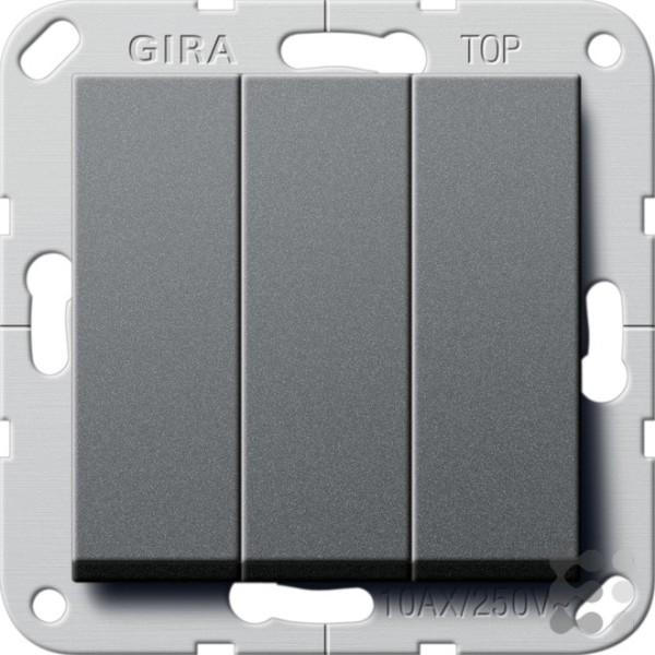 GIRA Wipptaster BS 3f Schließer System 55 Anthrazit