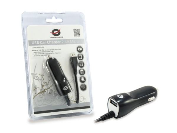 Conceptronic CUSBCARMICU2A USB-Ladegerät