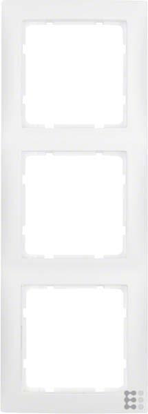 Berker Hager S1-Rahmen 80x 803Elemente weiß Polar