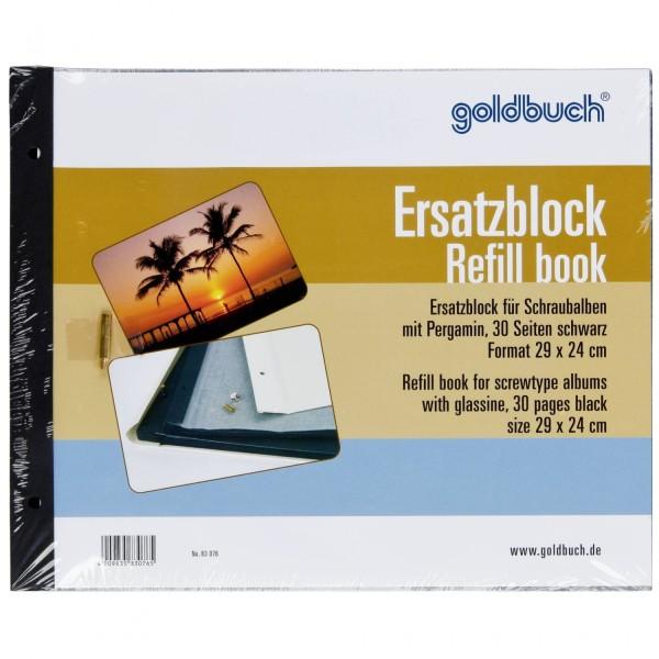 Goldbuch Ersatzblock 29x24 30 Seiten schw. Schrauben 8