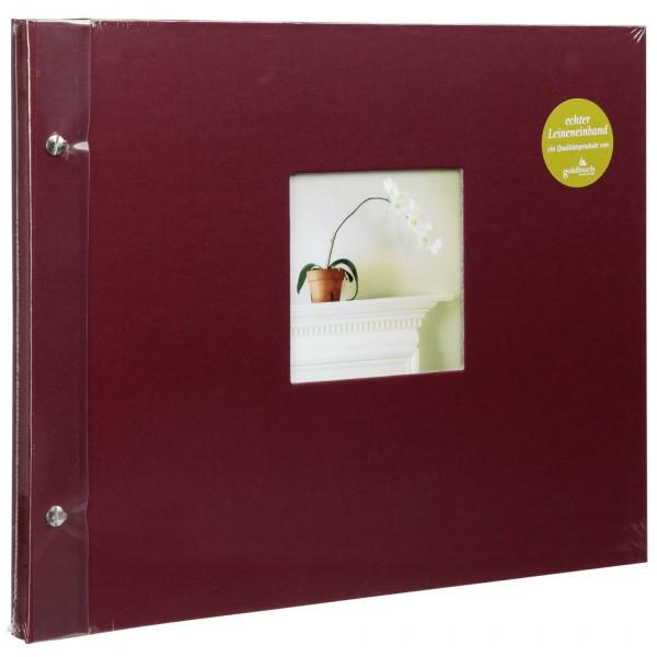 Goldbuch Bella Vista bord. 39x31 Schraubalbum 40 weiße Seiten