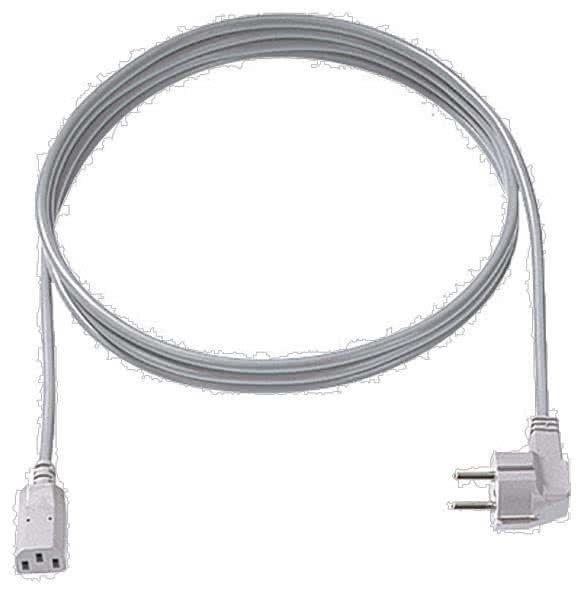 Bachmann 351.984 Kaltgerätezuleitung H05VV-F 3G0.75 2,0m grau 30/35 C13
