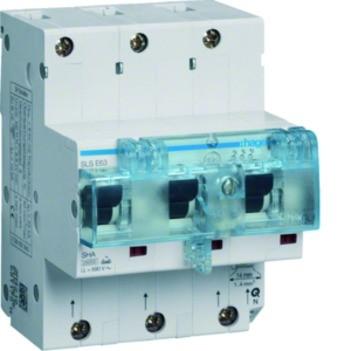 Hager HTN363E SLS-Schalter E 63A 3-pol. f.Hutschienenmontage