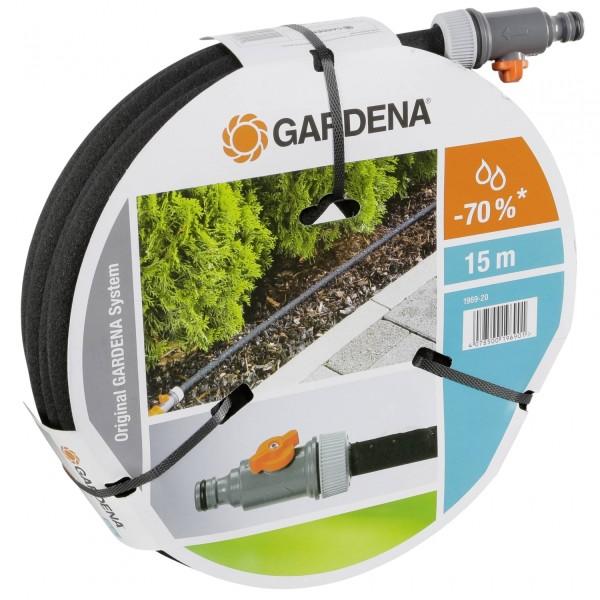 Gardena 1969-20 Perl Regner Schlauch, mit allen Anschlussarmaturen, mit Durchfluss- und Druckregulie