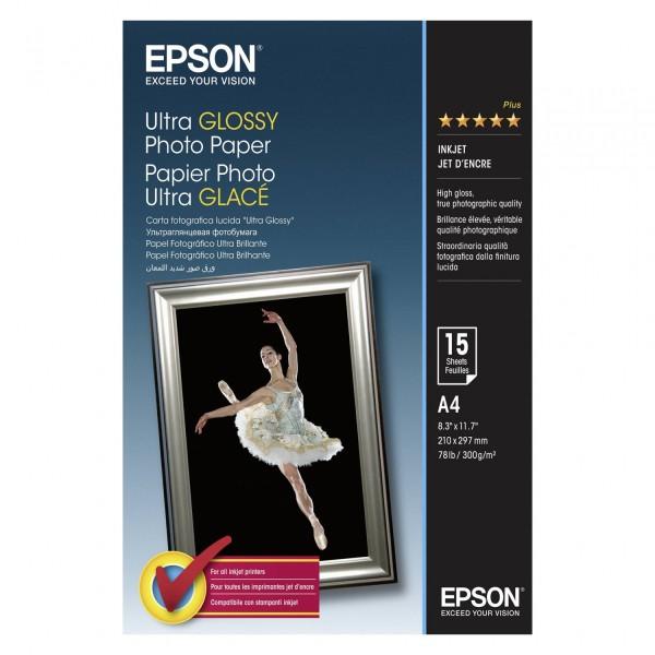 Epson Ultra Glossy Photo Paper A 4, 15 Blatt, 300 g S 041927