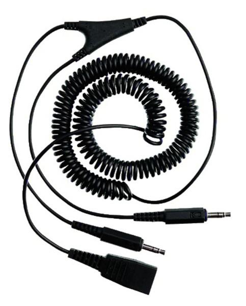 Jabra PC-Spiralkabel Quick Disconnect auf 2 x 3,5mm Klinkenstecker, gewendelt