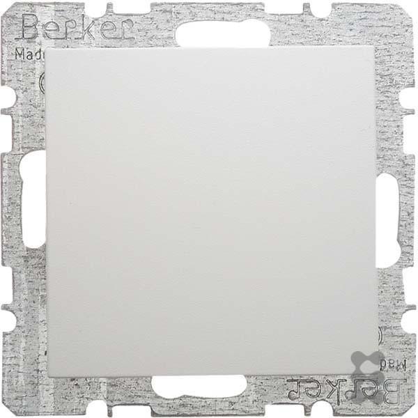 Berker Hager-Platte Blind mit Keilrahmen Greifer S1/B1/B3/B7weiß Polar
