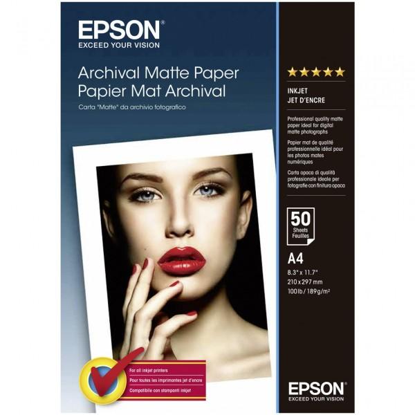 Epson Archival Matte Paper A 4, 50 Blatt, 189 g S 041342